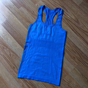 Lululemon Run Swiftly Blue Tank Top Sz 2